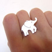 Image of BABY Elephant Ring- Handmade Silver Ring
