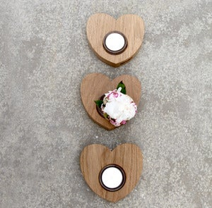 Image of Heart tea light holder