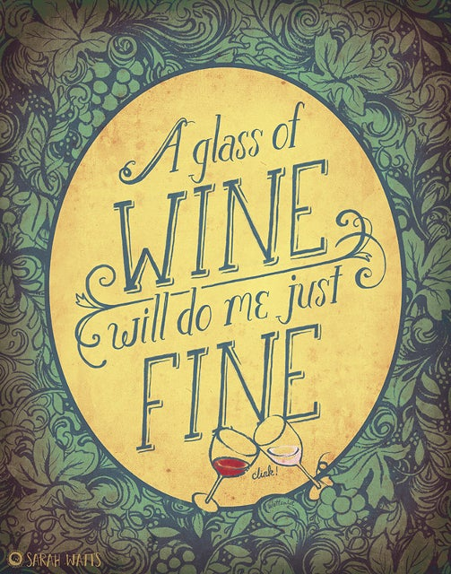 Glass of Wine-Art Print