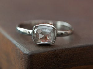 Image of Silver-Grey Diamond in 14kt White Gold