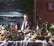 "Image of Bellows Print ""Self Portrait with Wine Glass (Gluttony)"" - large"