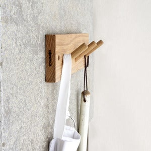 Image of Oak Coat Hooks (3 peg)