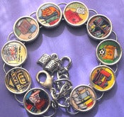 Image of Books Cat Coffee Tea Lover's Bracelet