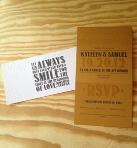 Image of Always Smile Wedding Invitation Suite