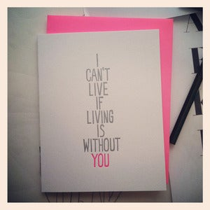 Image of WITHOUT YOU Card