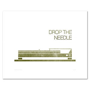 Image of Drop the Needle Print - Letterpress