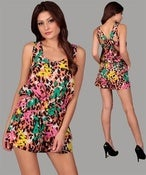 Image of Colorful Mixed Print Romper