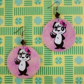 Image of Pretty Pink Panda Earrings
