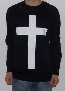 "Image of MEDIUM SWEATSHIRT ""JUST CROSS"""