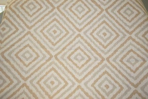 Image of Jonathan Adler for Kravet Gray and Tan Geometric Ikat Fabric