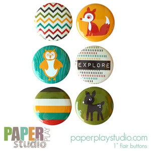Image of Woodsy - Set of 6 flair buttons