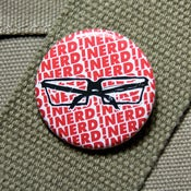 Image of many nerds glasses button badge