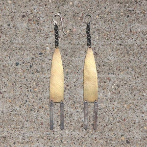 Image of Tall Standing Mountain Earrings