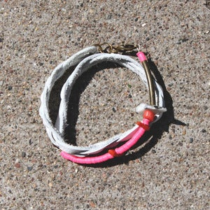 Image of Double Wrap Leather Bracelet