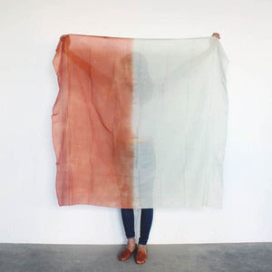 Image of COLORBLOCKS Scarf Rust/Mint