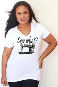 Image of Sew What - V-Neck - Tess Munster Shop