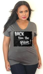 Image of Back From The Grave - Silent Movie - Gray V-Neck - Tess Munster Shop