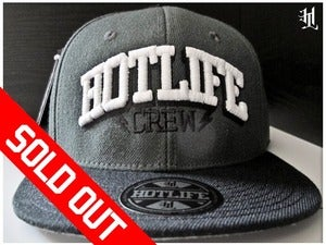 Image of *SOLD OUT* HOTLIFE - &quot;HOTLIFE CREW CHARCOAL&quot; SNAPBACK