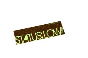 Image of Status Low Ziptie Bumpersticker - Teal Lettering