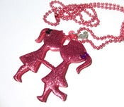 Image of Kissing Girl Cousins necklace