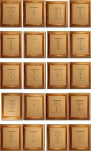Image of Framed intaglios, set of 20