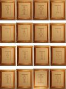 Image of Framed intaglios, set of 16