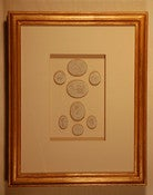 "Image of Framed intaglios - ""Isabel"" design"