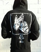Image of Against Me! - Gloves Zip-Up Hooded Sweatshirt