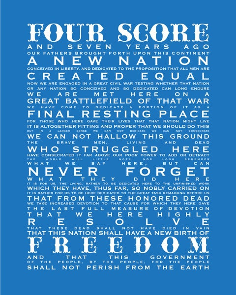 Image of Gettysburg Address-Independence