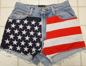Image of Americana High Waisted Shorts