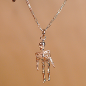 Image of Sterling silver moving skeleton