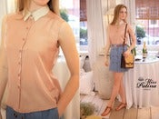 Image of Peaches and Cream Shirt (Pastel Orange)