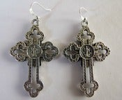 Image of 'Holier Than Thou' Cross Earrings