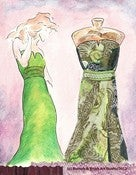 Image of Which Green Dress - Mixed Media Original Art