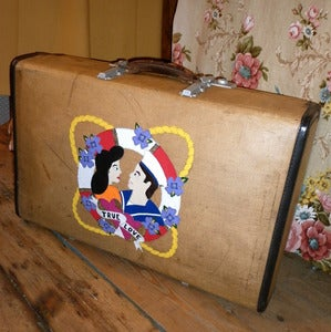 Image of REDUCED! Vintage Customised True Love Suitcase
