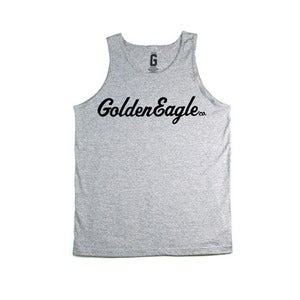 Image of OG Script Logo Tank in Heather Grey