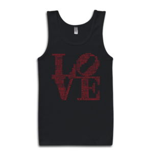 Image of Classic LOVE Tank (Black/Red)