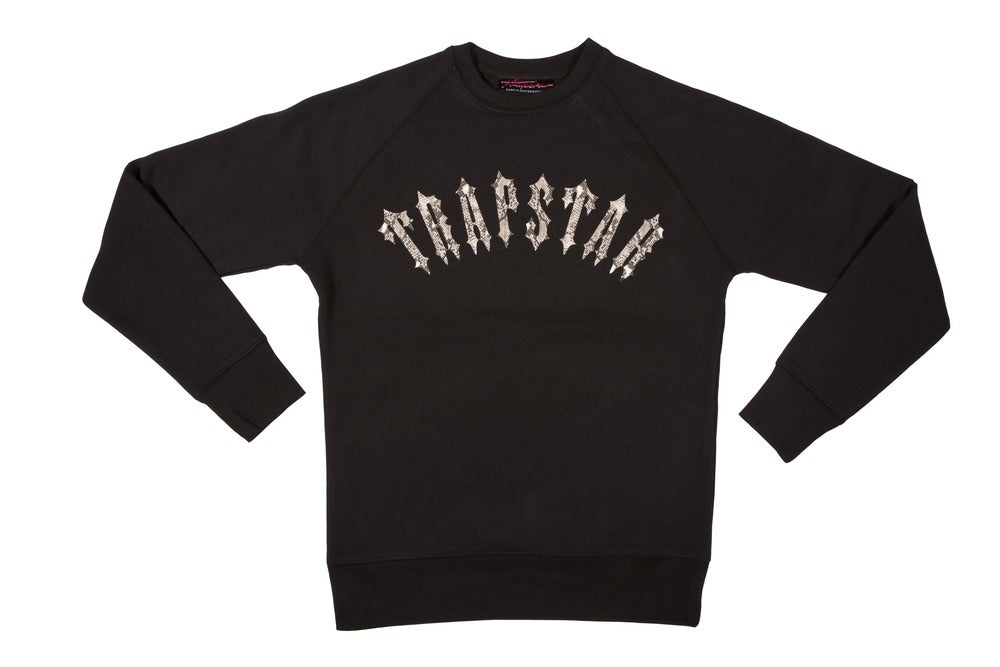 Image of Irongate snakeskin sweater (black)