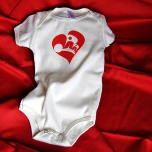 Image of Butterfly Heart Baby Onesie