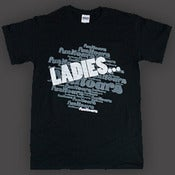 "Image of Funkoars Greatest Hit ""Ladies.."" Tee - Mens and Womens - Black"