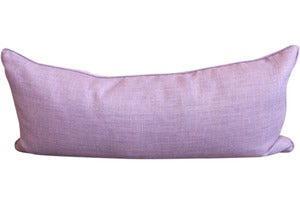 Image of Purple & Gray Linen Bolster Pillow