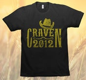 Image of CRAVEN 2012 T-SHIRT (Black)