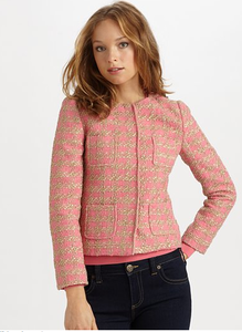 Image of RED Valentino Macro Boucle Jacket SZ 4 NEW