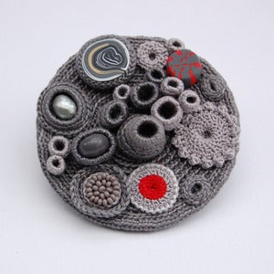 Image of Grey 'Coral Collection' brooch