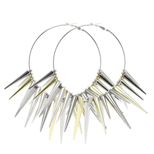 Image of Vivienne. Oversized Spiked Hoops