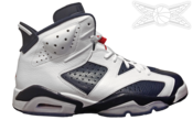 Image of Air Jordan 6 Retro Olympic VI
