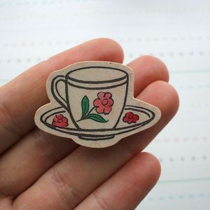 Image of Tea Cup Brooch