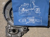 Image of Factory Tools: Vespa VBB outline shirt