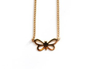 Image of Vintage Butterfly Necklace