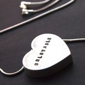 "Image of Necklace - My heart says... ""UNLOVABLE"""